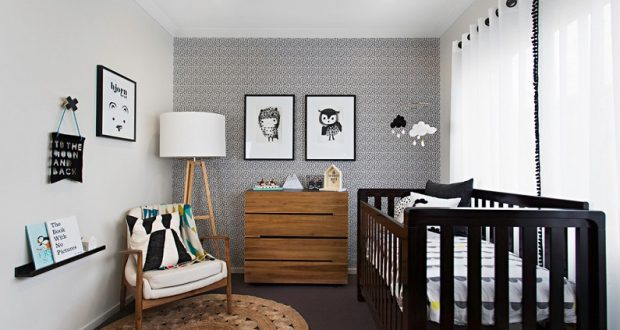 Современная детская комната в эко стиле