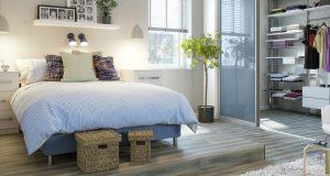 Как обустроить гардеробную в небольшой спальне: 9 практичных решений