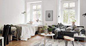 4 удачных примера совмещения спальни и гостиной в одной комнате