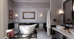 Зонирование ванной перегородками: 7 оригинальных идей
