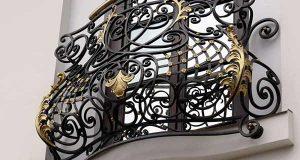 Элементы художественной ковки в оформлении фасадов